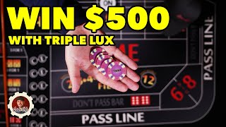 How to win $500 Craps Betting Strategy