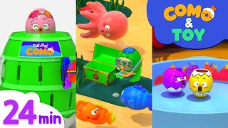 Como | Roulette Game + More Episode 25min | Learn colors and words | Como Kids TV