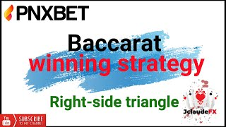 PNXBET Baccarat strategy   The power of right-side triangle