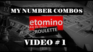 My NUMBER COMBOS Strategy | Video #1 | Best Roulette Strategy to Win Big