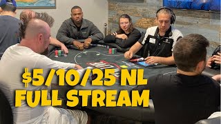 $5/10/25 No-Limit Hold'em TCHLiVE! Poker Stream | Dallas 6/22/2021