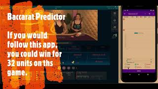 Baccarat Predictor – predict the next value and adapt martin betting strategy