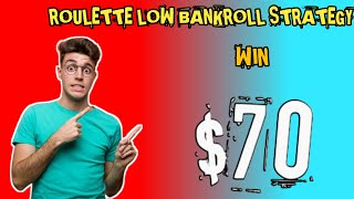 Roulette low bankroll trick 5 | roulette strategy to win | roulette 100% | Roulette channel gameplay