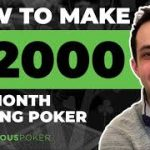 How to Make $2,000 Per Month Playing Poker