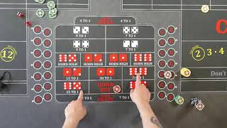 Good craps strategy?  Center action what not to do!