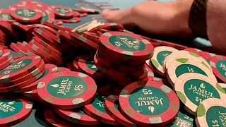$13,000 BAD BEAT JACKPOT IN THE MOST RIDICULOUS WAY!! // Texas Holdem Poker Vlog 36