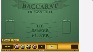 Baccarat Strategy 8 out of 100 net profit $1200  Hello Baccarat Nation