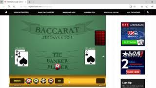 Baccarat Winning Strategy ….