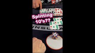 Blackjack Splitting 10s??? Neversplit10s #shorts