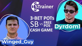 """Simple GTO Trainer – Review of the """"3-BP SB vs Free Pos"""" Training Pack by Dyrdom1 & Winged_Guy"""