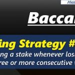 Baccarat, Betting Strategy#8 Doubling a stake whenever losing a bet after 3 or more consecutive wins
