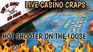 LIVE CRAPS GAME – SOME DECENT ROLLS – Live Craps Game at Century Casino