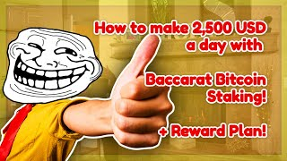 How to make 2,500 USD a day with Baccarat Staking winning strategy – high win stake rate strategy
