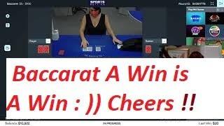 Baccarat Winning Strategy LIVE PLAY By Gambling Chi 6/4/21