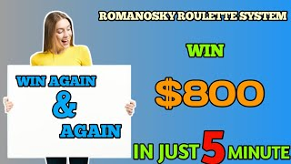 romanosky roulette system roulette strategy   big win  Durban   Roulette channel gameplay