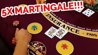 5X MARTINGALE!!! Blackjack Strategy Review