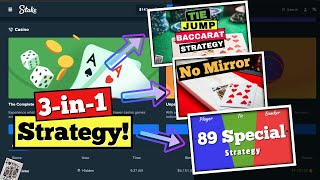Baccarat Session Playing Online w Bitcoin! | Tie Jump Strategy + 89 Special + No Mirror!
