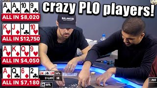 These Guys CAN'T WAIT to Get Their Chips in Fast Enough! A Pot Limit Omaha Poker Video