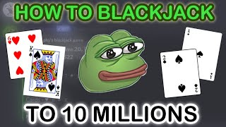 (OUTDATED) How To BlackJack And Get 10M In Dank Memer | Discord
