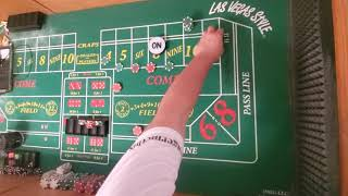 Craps strategy. Anything but 10 transitioning into An aggressive 6 and 8.