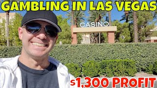 Gambling In Las Vegas- Christopher Mitchell Baccarat Strategy Makes $1,300 Profit In 45 Minutes.