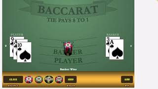 $10,000 Challenge #17 Baccarat Strategy Bet Selection and Money Management. UP $650
