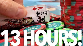 PURE INSANITY IN MY LONGEST SESSION EVER!! // Texas Holdem Poker Vlog 59