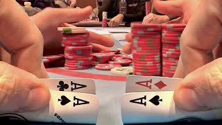 ACES AND MORE ACES!! // Texas Holdem Poker Vlog 49