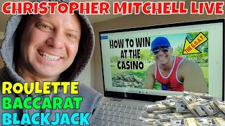 The GOAT- Christopher Mitchell Plays LIVE Roulette, Baccarat & Blackjack In This Video.