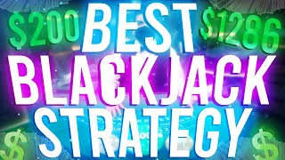BEST GAMBLING STRATEGY for BLACKJACK! $200 to $1286 on ROOBET!