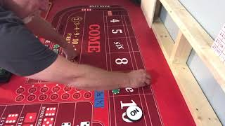 Craps strategy Tournament do verse don't with big odds  video #4 of 7.  The final 4 will be set