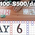 DAY 6   Real Cards BACCARAT w Bet Spreads   How to protect profits!