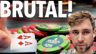 SMACKED & WACKED AROUND $2/5!! // Texas Holdem Poker Vlog 63
