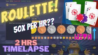 ROULETTE STREAKS MARTINGALE BETTING STRATEGY WITH BACCARAT GAMEPLAY!! SEE TIME LAPSE RESULT!!