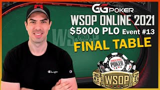 Final Table WSOP #13 – $268'926 on top – $5k PLO with JNandez
