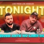 JOHNNIE VIBES Commentates on CRAZY ACTION ANTE GAME w/ Mike Matusow & Pablo