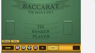 Baccarat Strategy 7 out of 100 net profit $850