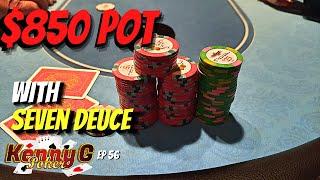 HUGE POT w/ Seven Deuce vs Guy who HATES OUR GUTS!! Poker Vlog 56