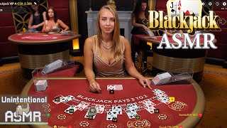 Unintentional ASMR 🃏 Relaxing Blackjack Casino with Unintelligible Croupiers (1,5h Compilation)