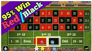 RED/BLACK Complete Strategy to Roulette Win – best roulette strategy – roulette strategy to win
