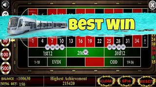 ✨🥳 Best Win By Proper Betting Strategy to Roulette || Roulette Strategy to Roulette