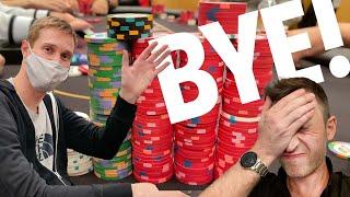 HEARTBREAK AT BRAD OWEN'S TABLE!! Texas Holdem Poker Vlog 72