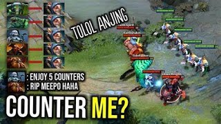 insane  meepo 1vs9 for 2million $$ learn how to never lose  a game  with meepo vs counters easy!!!!