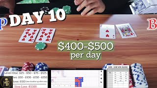 Day 10 | Real Cards BACCARAT | Cautious & Protective of Profits