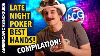 Late Night Poker: CRAZY Poker Hands! – Watch & Learn