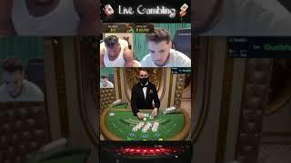 BIG BLACKJACK FAIL! BAD GAME! LIVE DEALER! BET $30000!!!