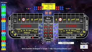 Lets Play Craps (Playing 8 AutoBet Strategies WinCraps)