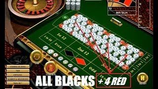 BEST ROULETTE STRATEGY TO WIN: All Blacks + 4 Red (the 4 magic red numbers)