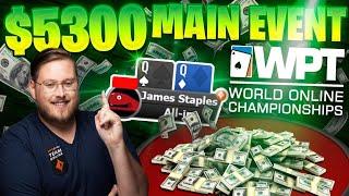 HUGE STACK $5300 BUY IN WPT MAIN EVENT   PokerStaples Stream Highlights