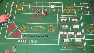 Craps Strategy #1, Road Gambler Strategy, $100 Don't Pass, Part 2